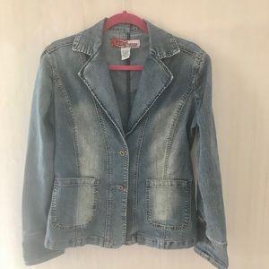 Lazer Jeans Denim Fitted Blazer